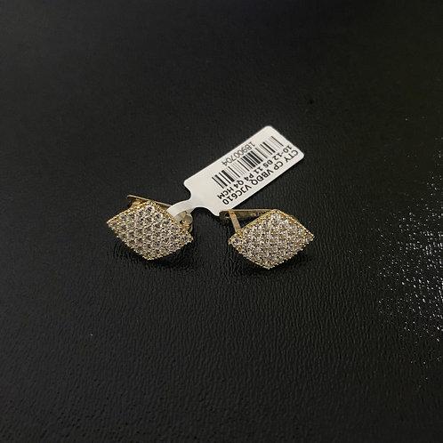 Bông tai vàng hình thoi đá VJC 610
