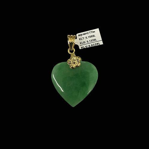 Mặt dây tim vàng đá Cẩm thạch VJC 610
