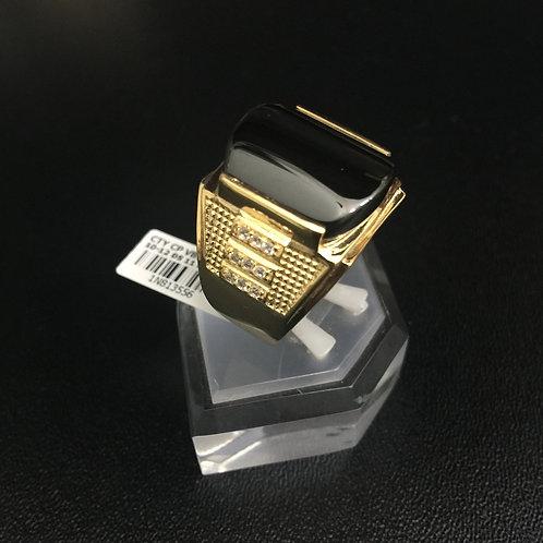Nhẫn vàng nam đá đen VJC 610