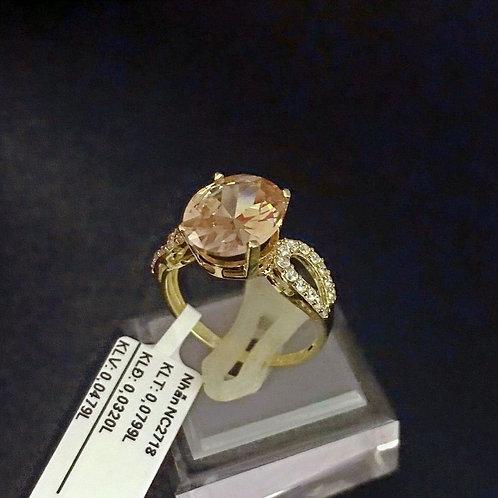 Nhẫn nữ vàng đá màu hồng
