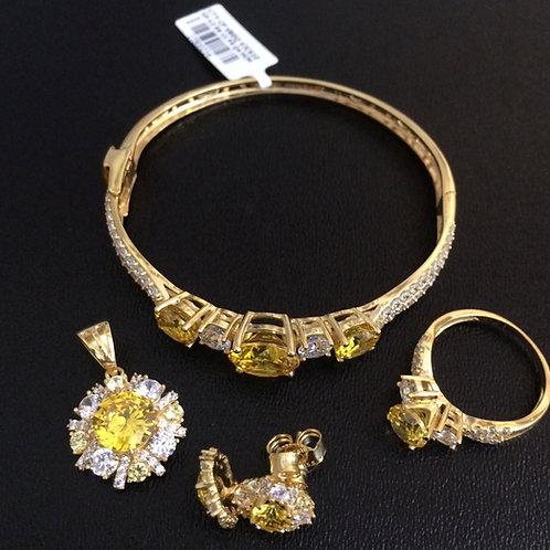 Bộ Trang sức Vàng đá vàng VJC 610