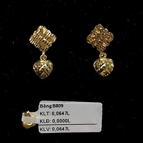 Bông tai tim vàng VJC 610
