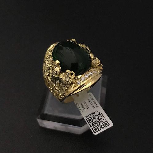 Nhẫn nam Rồng Phượng đá đen - VJC 610