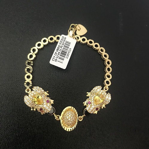 Lắc tay cóc vàng đá màu vàng VJC 610