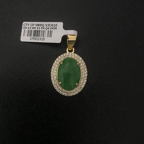 Mặt dây chuyền vàng đá Cẩm thạch VJC 610