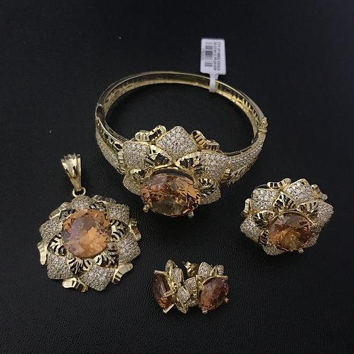 Bộ Trang sức Vàng đá màu cam VJC 610