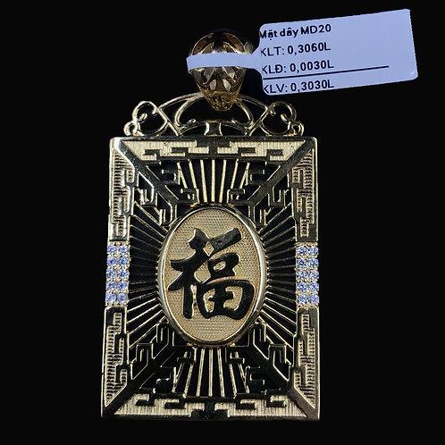 Mặt dây Nam chữ Phước vàng VJC 610