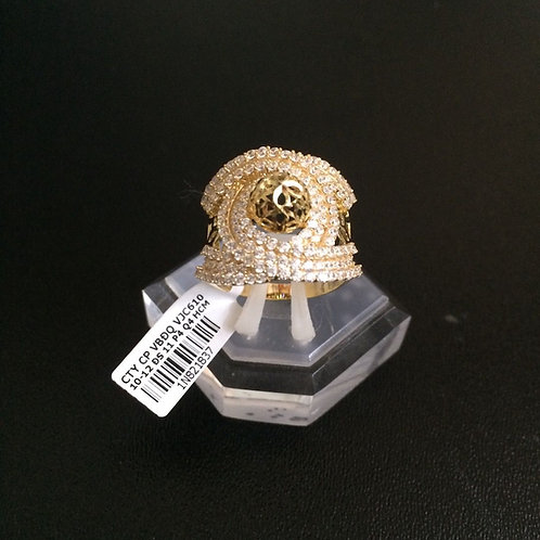 Nhẫn nữ vàng đá trắng chanel VJC 610