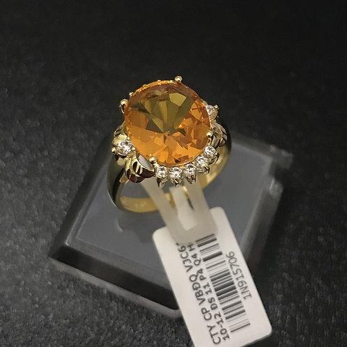 Nhẫn vàng nữ đá màu vàng VJC 610