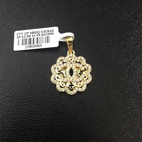 Mặt dây vàng chanel đá trắng VJC 610