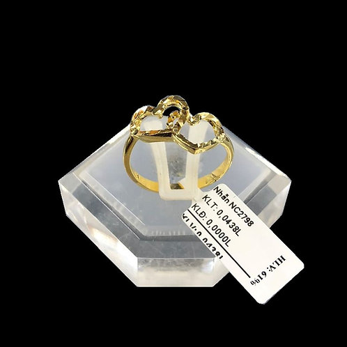 Nhẫn nữ tim vàng VJC 610