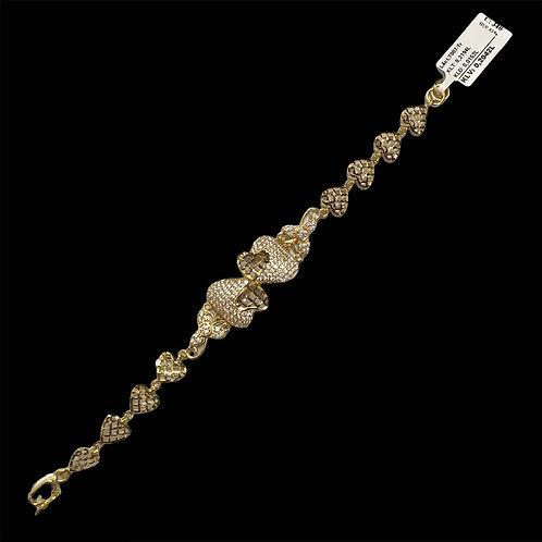 Lắc tay vàng đá trắng VJC 610