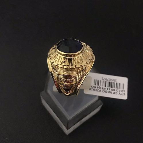 Nhẫn Mỹ nam vàng đá xanh biển VJC 610