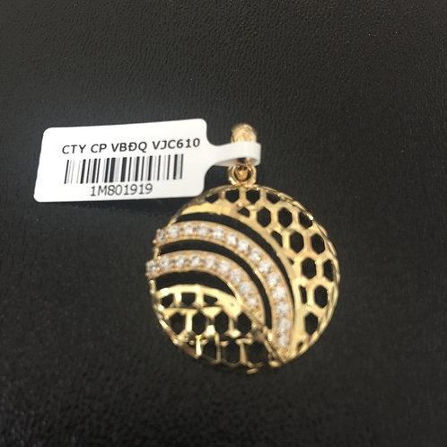 Mặt dây chuyền vàng hoa văn VJC 610