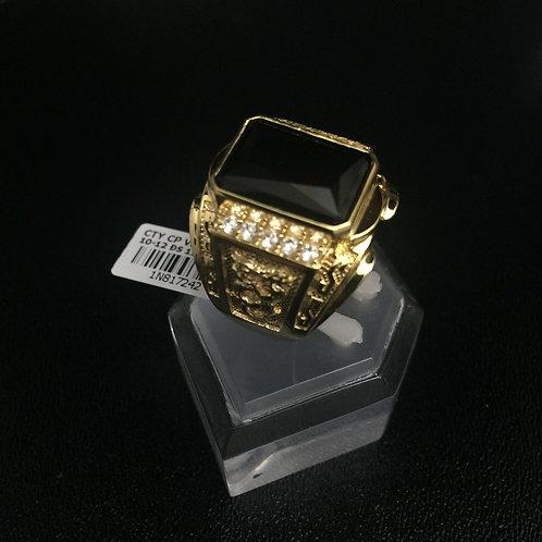 Nhẫn vàng nam đá đen