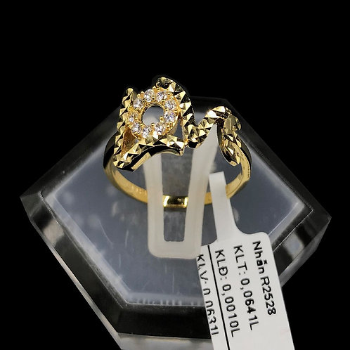 Nhẫn nữ vàng đá trắng LoveVJC 610