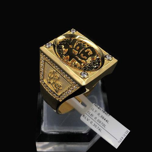 Nhẫn nam vàng chữ Lộc VJC 610