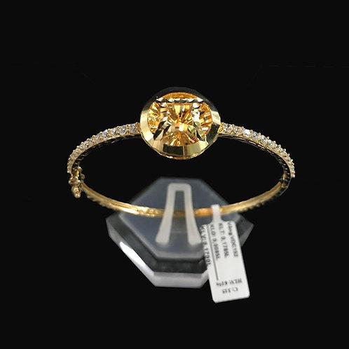 Vòng vàng kim tiền đá trắng VJC 610