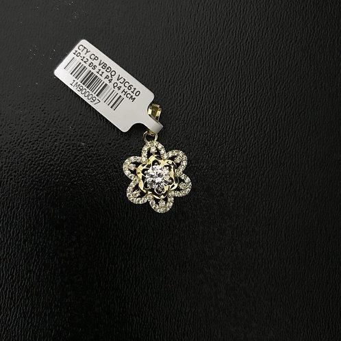 Mặt dây chuyền hoa vàng đá trắng VJC 610