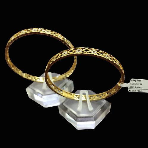 Vòng vàng đá trắng VJC 610