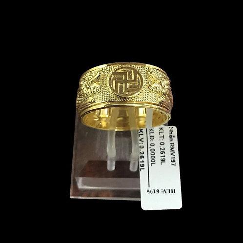 Nhẫn nam chữ Phúc vàng VJC 610