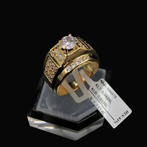 Nhẫn nam vàng đá trắng VJC 610