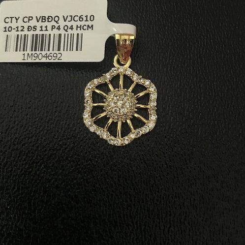 Mặt dây chuyền hoa đá trắng VJC 610