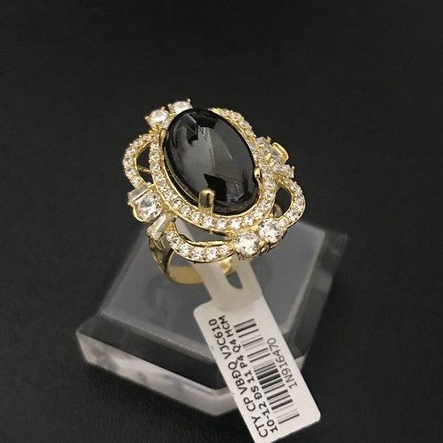Nhẫn vàng nữ đá đen VJC 610