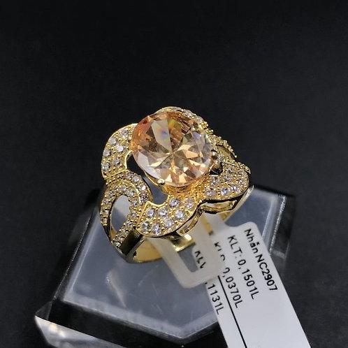 Nhẫn nữ vàng đá màu vàng