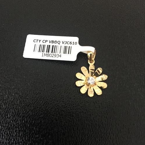 Mặt dây chuyền vàng nữ cánh hoa VJC 610
