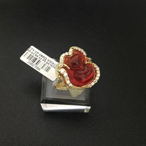 Nhẫn nữ vàng hồ ly đá đỏ VJC 610