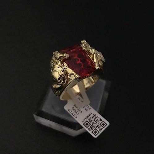 Nhẫn nam Ngựa vàng đá đỏ VJC 610