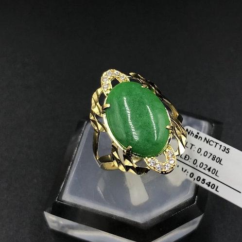 Nhẫn nữ vàng đá cẩm thạch