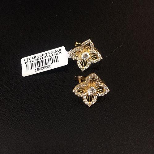 Bông tai vàng cánh hoa VJC 610