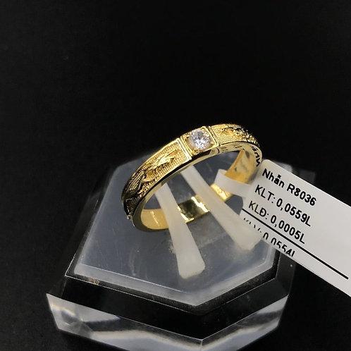 Nhẫn nữ Rồng vàng đá trắng