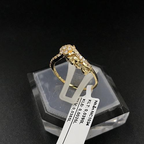 Nhẫn nữ vàng đá trắng Love