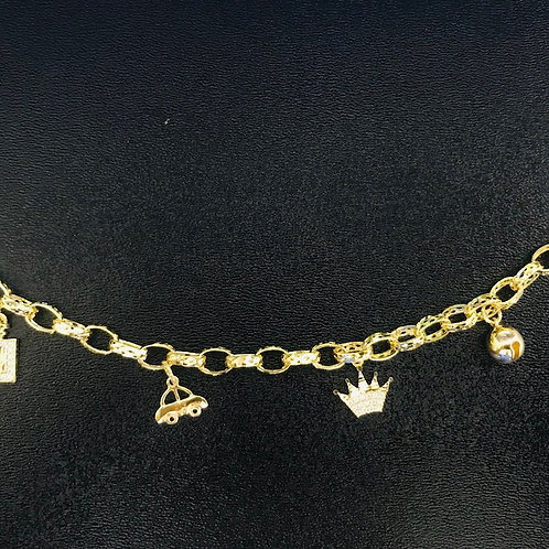 Lắc tay nữ vàng VJC 610