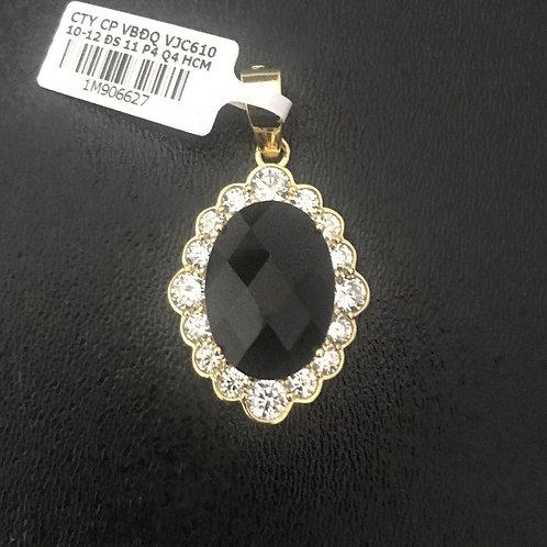 Mặt dây chuyền vàng đá đen VJC 610