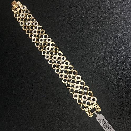 Lắc tay vàng nữ dây ba VJC 610