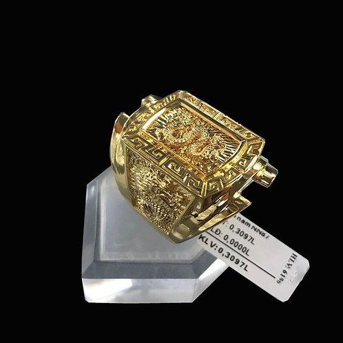 Nhẫn nam Rồng vàng