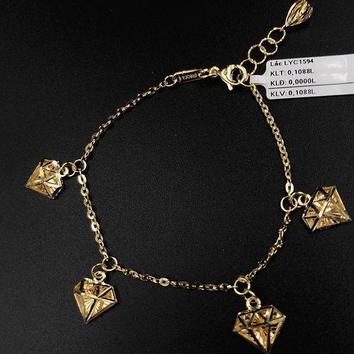 Lắc tay viên kim cương vàng