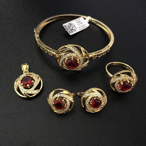 Bộ Trang sức Vàng đá đỏ VJC 610