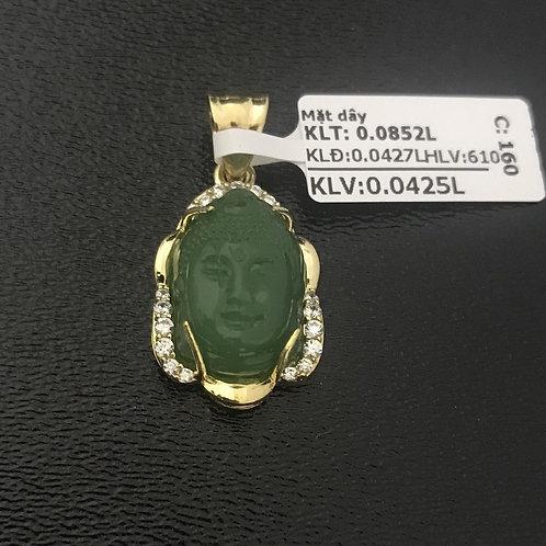 Mặt dây vàng Phật Cẩm thạch VJC 610