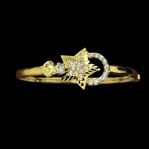 Vòng vàng ngôi sao đá trắng VJC 610