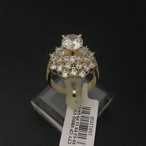 Nhẫn nữ vàng hoa đá trắng VJC 610