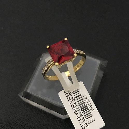 Nhẫn vàng đá đỏ vuông VJC 610