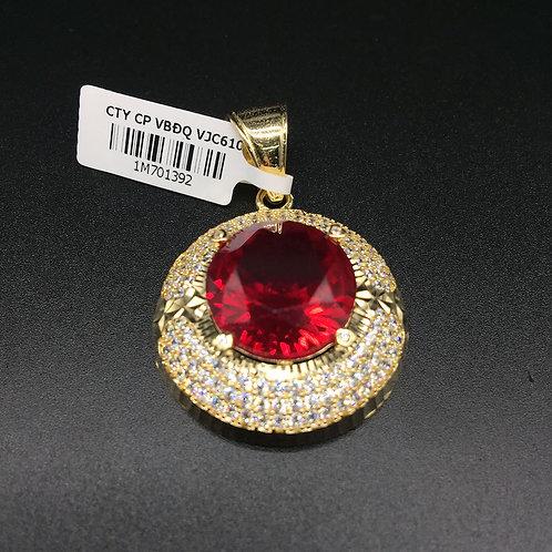 Mặt dây chuyền vàng nữ đá đỏ VJC 610
