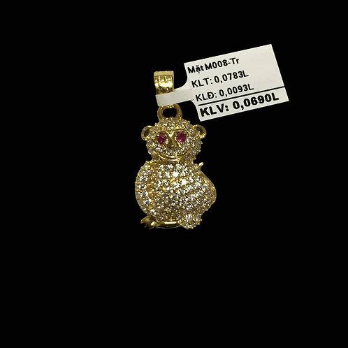 Mặt dây Khỉ vàng đá trắng VJC 610