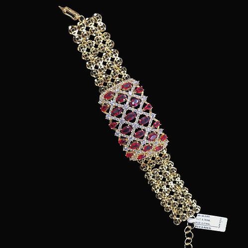 Lắc tay vàng đá đỏ VJC 610