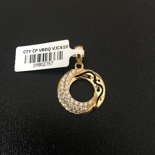Mặt dây chuyền vàng vòng hoa văn VJC 610